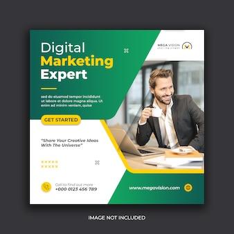 Digital marketing corporate social media banner instagram post template