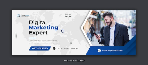Digital marketing corporate social media facebook cover template