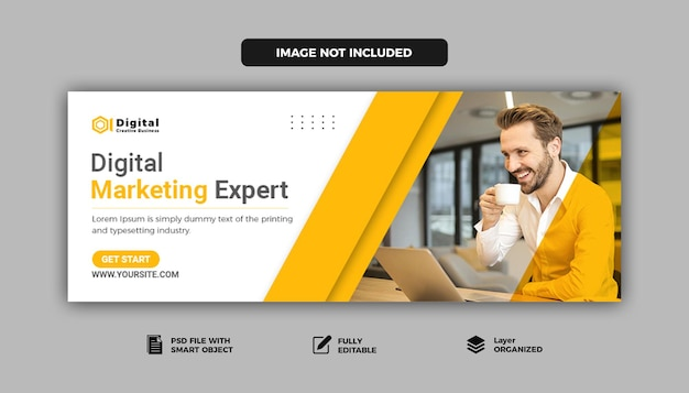 디지털 마케팅 기업 소셜 미디어 facebook 표지 템플릿