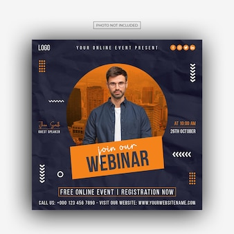 Digital marketing corporate social media live webinar post template