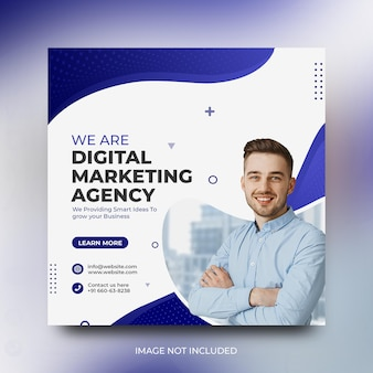 Digital marketing corporate social media promotion and instagram post template free psd