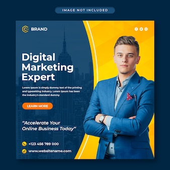 Digital marketing and creative business agency instagram banner or social media post template