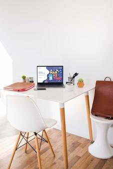 Digital marketing desk concept