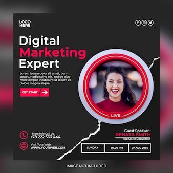 Digital marketing expert and corporate social media post template
