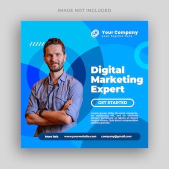 디지털 마케팅 전문가 소셜 미디어 게시물 배너