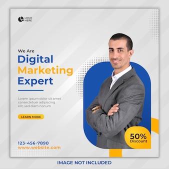 Digital marketing expert social media post template