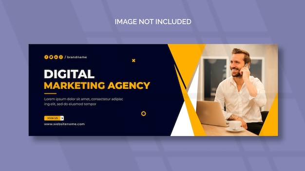 Digital marketing facebook cover page template