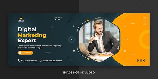 Digital marketing facebook cover social media post banner template