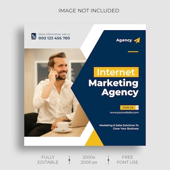 Digital marketing instagram post feed template