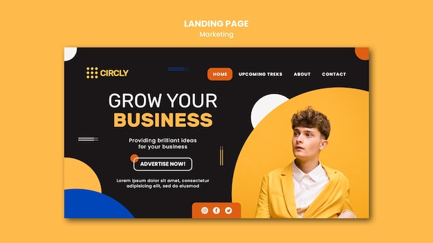 Modello di pagina di destinazione del marketing digitale