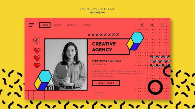 Digital marketing landing page template