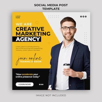 Digital marketing live webinar promotion social media post banner template