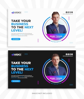 Digital marketing live workshop for youtube thumbnail and web banner template