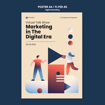 Modello di poster di marketing digitale