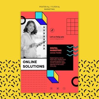 Шаблон плаката цифрового маркетинга