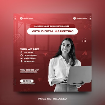 Цифровой маркетинг рекламный баннер социальные сми размещение шаблона фон