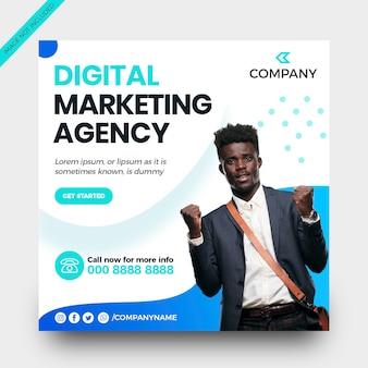デジタルマーケティングソーシャルメディアバナーinstagramテンプレート