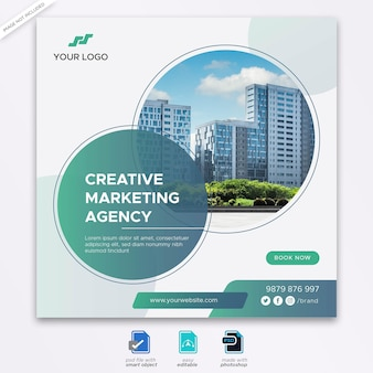 Digital marketing social media banner template