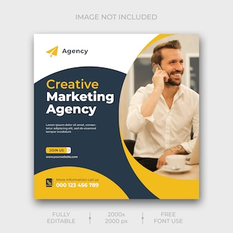 Digital marketing social media banner template