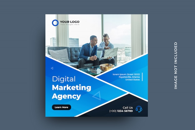 디지털 마케팅 소셜 미디어 게시물 배너 서식 파일