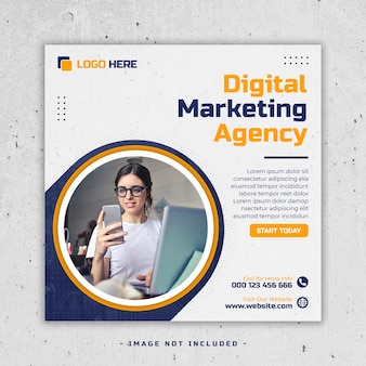 デジタルマーケティングソーシャルメディア投稿テンプレートプレミアムpsd