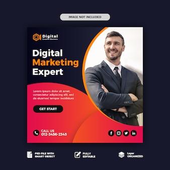 Digital marketing social media post template