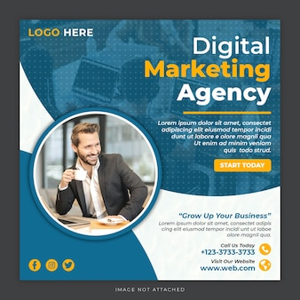 디지털 마케팅 소셜 미디어 게시물 템플릿