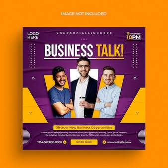 Digital marketing social media post web banner flyer and instagram post template