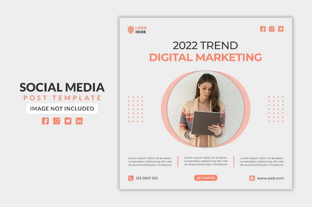Digital marketing social media post or web banner template