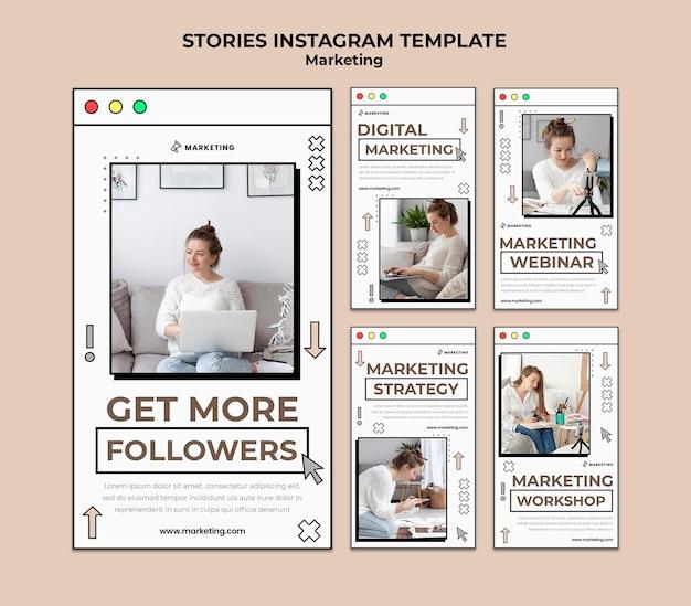 Digital marketing social media stories