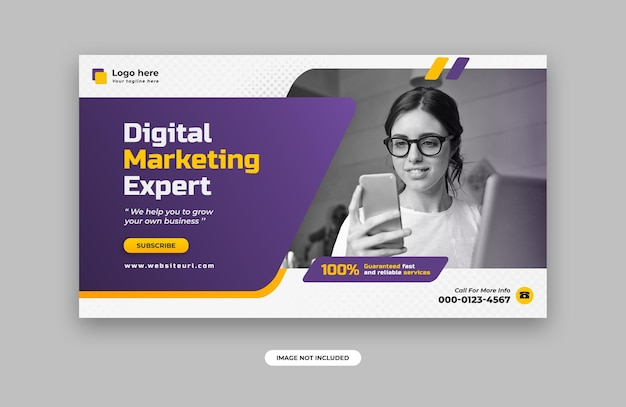 Digital marketing web banner design template