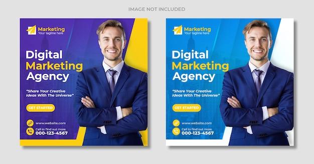 Digital marketing web and instagram social media post banner template
