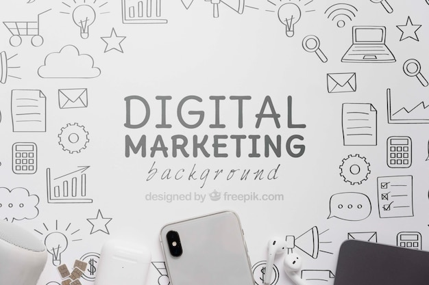 Digital marketing with 5g wifi connection