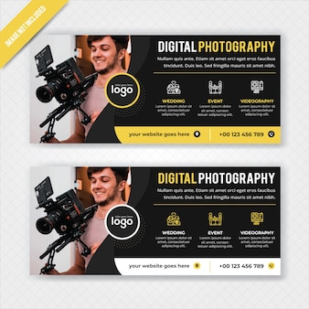 Digital photography web banner template