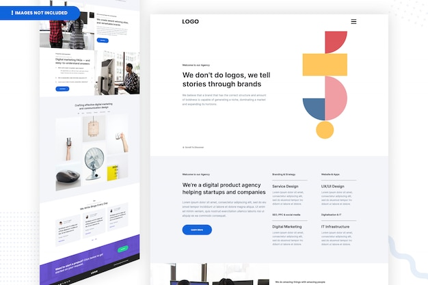 Digital product agency website page template
