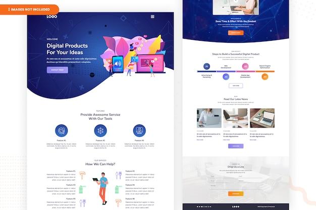 Цифровые продукты для ваших идей дизайн логотипа