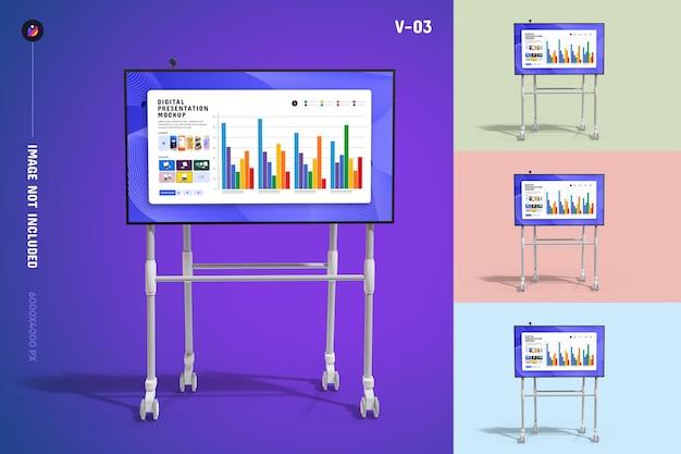 Мокап презентации цифрового экрана Premium Psd