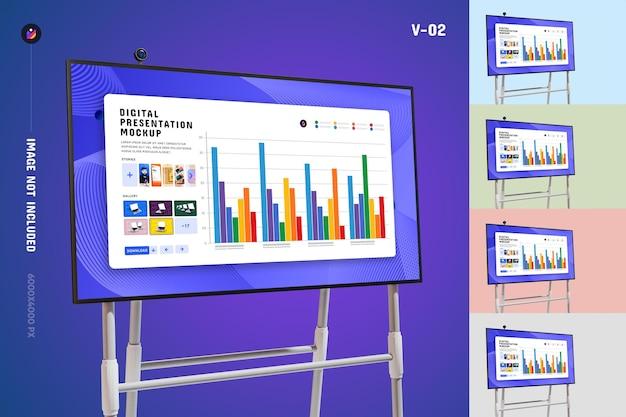 Мокап презентации цифрового экрана