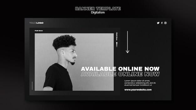 Digital shopping horizontal banner template