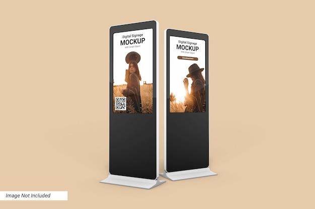 Дизайн макета цифровых вывесок изолированные