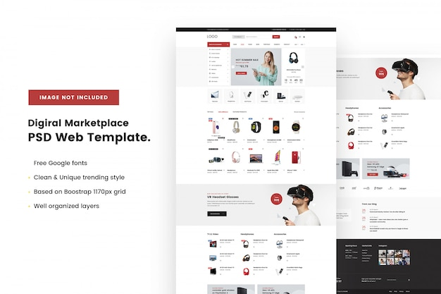 Digital supermarket web template