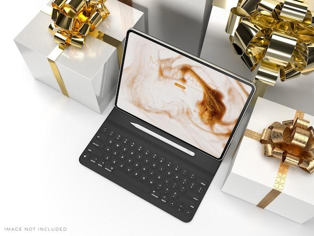 Digital tablet mockup for branding identity global business