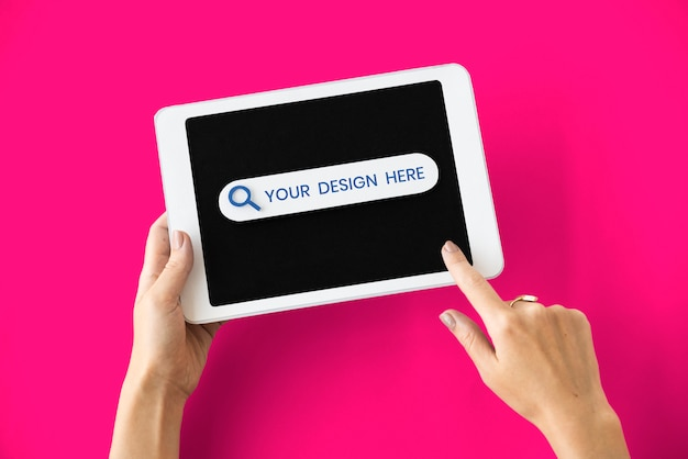 Макет экрана цифрового планшета