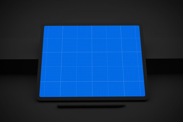 Digital tablet with mockup screen