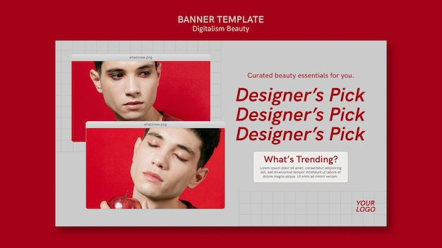 Digitalism beauty banner template