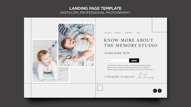 Digitalism concept landing page template