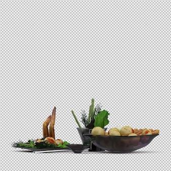 Diner plate 3d render