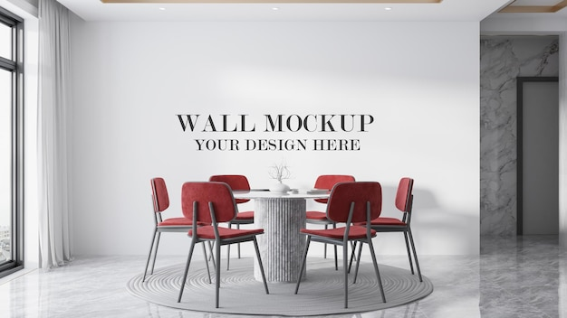 Dining room wall mockup for your textures