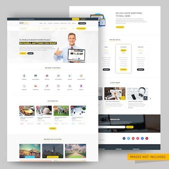Каталог и размещение рекламы на веб-странице премиум psd