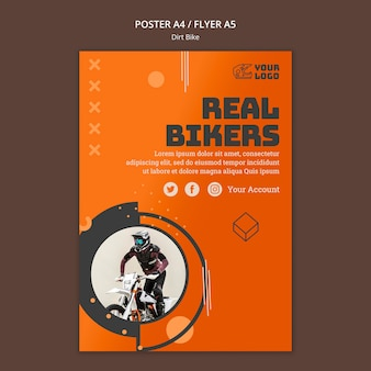 Dirt bike flyer template